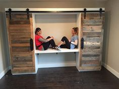Pallet wardrobe with sliding doors. VC                                                                                                                                                                                 More