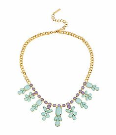 Steve Madden Faceted Bead Frontal Necklace #Dillards
