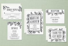 Our Favorite Wedding Invitations From Minted + A $3500 Giveaway!! - Weddbook