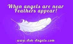 Angels will use feathers of all shapes, colors and sizes to get your attention. Feathers are a beautiful reminder to pay attention and that angels are near!