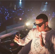 ( .@djsnake I like what you're wearing ! ) DJ Snake wearing a madeon shirt
