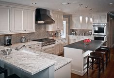 Remodeling Kitchen Countertops River White Granite 18636 - How much will it cost for River White Granite Installed Countertops? Get a Free Quote on in-stock River White Granite Countertops. Farmhouse Style Kitchen, Modern Farmhouse Kitchens, Diy Kitchen, Kitchen Decor, Kitchen Ideas, Kitchen Inspiration, Kitchen Layout, Kitchen Designs, Eclectic Kitchen