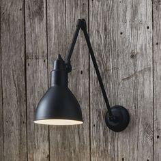 Wandleuchten und Wandlampen Adjustable wall lamp in black metal Plug In Wall Sconce, Wall Sconce Lighting, Home Lighting, Sconces, Accent Lighting, Industrial Lighting, Kitchen Lighting, Outdoor Lighting, Diwali Lamps