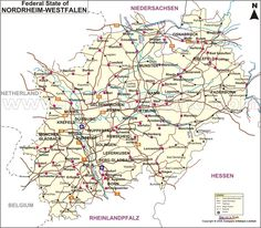Nordrhein Westfalen Map