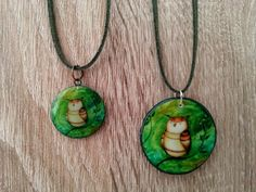 Little owl necklace green necklace can be by LaAmapolaRoja on Etsy