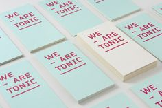Logo and print designed by Blok for Toronto based advertising agency We Are Tonic