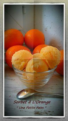 Je continue avec l'orange, après ma Tarte Scandaleuse à L'Orange, j'attache une autre recette, pendant que je vous écris, mon sorbet est en train de prend…