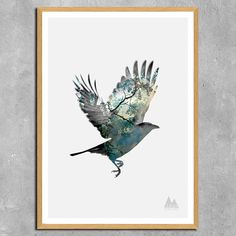Clean Nature Bird Poster