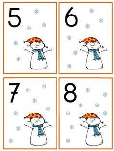 getalkaartjes winter kleuters