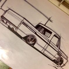 chevy c10 split 5 star bforged wheels drawing rendering