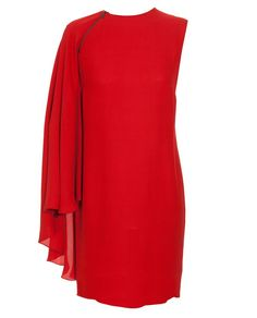 Ooouu Lanvin you just aren't right dangling this stunning silk one sleve dress in front of me.  And you know how I swoon for red! *le sigh