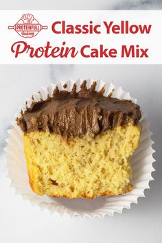 Have you ever seen protein cake this soft and moist? We think not! It's the blend of almond, whey, and flax proteins we use that give the best taste and texture. Click through to learn more and give this protein cake mix a try! #proteincake #proteincakemix #glutenfreecake #glutenfreecakemix #proteinbaking Healthy Treats, Healthy Habits, Yellow Cupcakes, Protein Cake, Gluten Free Cakes, Chocolate Frosting, Almond, Avocado, Baking