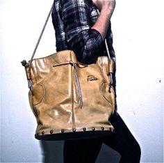 big vintage studded color leather bag festival summer rocker hippie folk boho western maxi patterned psychedelic satchel bucket cross body