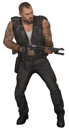 Left 4 Dead's Francis. Believes he's indestructible, and hates pretty much everything. My fave from the first Left 4 Dead