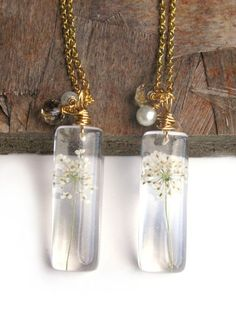 Real Queen's Anne Lace Necklace Real Flowers by ScrappinCop, $12.00