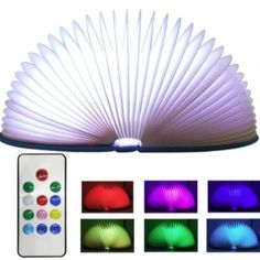 The Smugg LED Folding Book Night Light not only looks great but is a fun addition to your house an it is small enough to carry around in your backpack. Task Lighting, Outdoor Wall Lighting, Living Room Lighting, Wall Sconce Lighting, Folding Desk, Book Folding, Wall Light With Switch, Wall Light Fixtures, Battery Lights