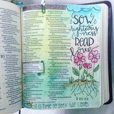 for it is the time to seek the Lord that he may come and rain righteousness upon you [Hosea 10.12.ESV] . . . #hosea #faith #believe #biblejournaling #journal #journalingbible #illustratedfaith #shepaintstruth #flowers #biblejournalingwithmeg #ipaintinmybible #worship #worshipincolor #colorful #draw #art #paint #sketch #handlettering #typography #lettering #verseoftheday #gritandvirtue #pursuepretty #rain #righteousness #calledtobecreative #womenoffaith #boymom #momlife