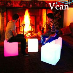 65.00$  Watch now - http://alinh1.worldwells.pw/go.php?t=1442172929 - 40*40*40cm colours change rechargeable lithium battery remote control  Hot LED Furniture LED Light Up Square Cube Chair Seat