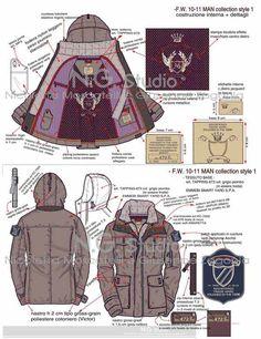 Men's outerwear jacket tech sketch #fashiondesign #illustrator
