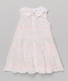 Another great find on #zulily! La Fleur & Le Papillon Pink Floral Tiered A-Line Dress - Infant, Toddler & Girls by La Fleur & Le Papillon #zulilyfinds