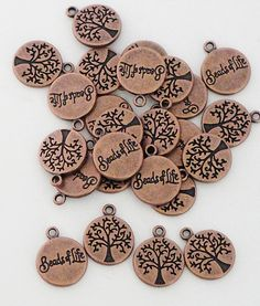 Copper Tree of Life Pendant Double Sided Bead Of by BijiBijoux, https://www.etsy.com/listing/108097050/copper-tree-of-life-pendant-double-sided