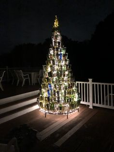 If wine is your thing, this tree fits the season. 356 bottle big or about one bottle of wine per day to fill.