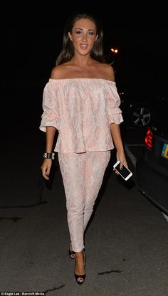 TV star! Megan McKenna cut a rather cheerful figure just moments after her appearance on B...