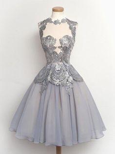 Simple Dress A-line Short High-neck Prom Dresses/Homecoming Dresses/Evening Dresses,53010