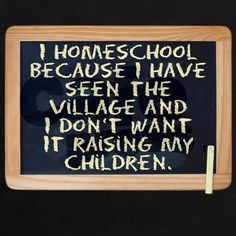 Why I homeschool...