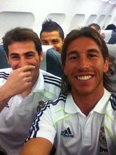 Iker Casillas, Cristiano Ronaldo, and Sergio Ramos jejejejejejejeee