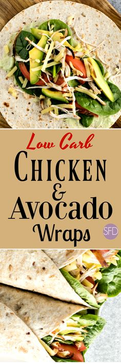 Low Carb Chicken and Avocado Wraps #lowcarb #wrap #lunch #easy #recipe #keto #trending #yummy