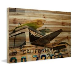 Parvez Taj Cali Day Painting Print on Natural Pine Wood