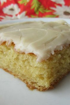 White Texas Sheet Cake ~ This cake is good to make a day ahead, and is very popular at potlucks