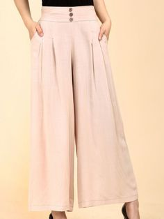 e0b15951 Plain Wide-Leg High-Rise Casual Pants-Berrylook #longpants #cheappants  #cutepants