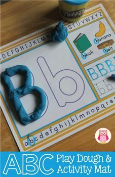 ABC play dough mats for preschool and pre-k. I love these because kids can build the letters with playdough, find the letter in the alphabet line, find the letter/practice the sounds with the pictured objects, trace the letter, and write the letter. Playdough Activities, Pre K Activities, Alphabet Activities, Preschool Activities, Letter Identification Activities, Alphabet Crafts, Alphabet Letters, Preschool Literacy, Preschool Letters