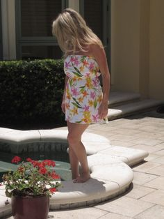 Tropical Strapless Dress  Size 0/2 by AnniesApparel on Etsy, $18.00