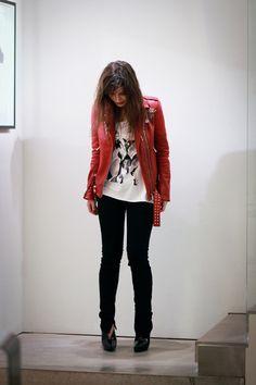 Tendência: Jaqueta de Couro Vermelha - Blog da Gelly