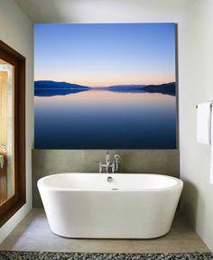 Trending in Bathroom Decor: Eye-Catching Artwork from Bathroom Bliss by Rotator Rod Bathroom Artwork, Modern Bathroom, Bathroom Interior, Space Architecture, Green Rooms, Modern Interior Design, Beautiful Artwork, Home Deco, Wall Canvas