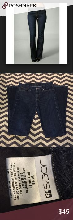 Joe's Jeans Joe's Jeans, size 28, boot cut (The Muse) in a dark wash (Perry) in excellent used condition. Cuffs without fraying. Rise is 8 inches, inseam is 31 inches. Joe's Jeans Jeans Boot Cut