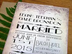 Art Deco 1930s wedding invitations stunning by sweetinvitationco, $3.99
