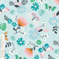 And here's the pattern #patterndesign #printandpattern #butterfly #floral #artlicensing