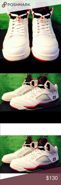 Air Jordan Retro 5 with OG Box 📦 Size 11! Kicks are in great condition! See pics for more details! Make me a reasonable offer I might not refuse! Air Jordan Shoes Athletic Shoes