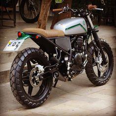 Ideas Motorcycle Honda Harley Davidson For 2019 Yamaha 125, Yamaha Cafe Racer, Cafe Bike, Honda Scrambler, Custom Cafe Racer, Cafe Racer Build, Moto Bike, Cafe Racer Motorcycle, Motorcycle Style