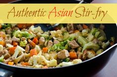 Authentic Asian stir-fry