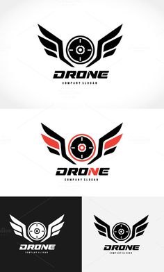 Drone Logo by Super Pig Shop on Creative Market