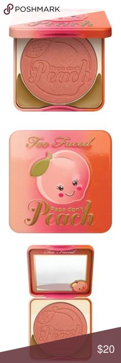 NEW Too Faced Sweet Peach Papa Don't Peach Blush Too Faced This burst of sweet peachy-bronze adds a fresh youthful radiance to cheeks for a summertime warmth. Too Faced Makeup Blush