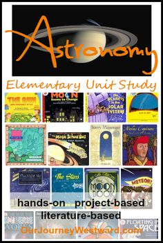 Hands-on, literature-based, project-based astronomy unit study for elementary students