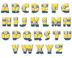 moldes de letras de minions - Buscar con Google