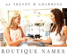 Do you have business savvy and a passion for fashion? Opening a clothing boutique is the perfect way to embrace both! Check out our cute, unique, and classy boutique names. Fashion Names Ideas, Fashion Store Names, Online Fashion Stores, Hair Boutique, Beauty Boutique, Boutique Clothing, Fashion Boutique, Boutique Ideas, Store Names Ideas
