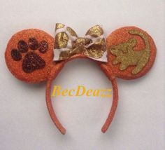 Hey, I found this really awesome Etsy listing at https://www.etsy.com/listing/182845505/disney-lion-king-minnie-mouse-ears